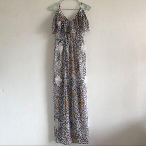 As U Wish Maxi Patterned Dress